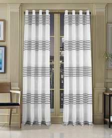 "J Queen New York Freeport 50"" x 84"" Stripe Grommet Curtain Panel"