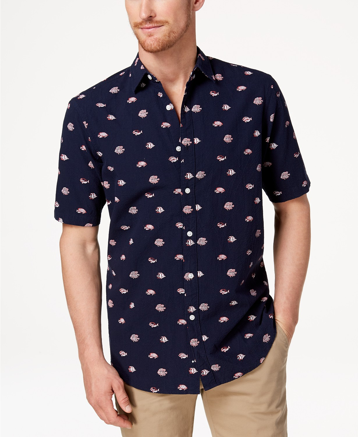 Club Room Men's Fish-Print Shirt