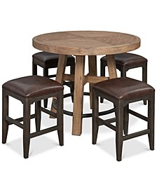 Brewing Collection, 5-Pc. Set (Gathering Round Table & 4 Lager Gathering Stools)