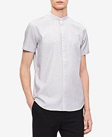 Calvin Klein Men's Seersucker Banded Collar Shirt, Created for Macy's