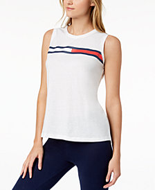 Tommy Hilfiger Sport Sleeveless Logo T-Shirt, Created for Macy's