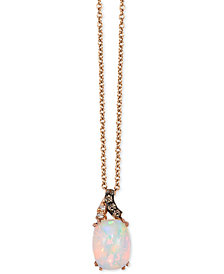 "Le Vian® Neopolitan Opal™ (5/8 ct. t.w.) & Diamond Accent 18"" Pendant Necklace in 14k Rose Gold"