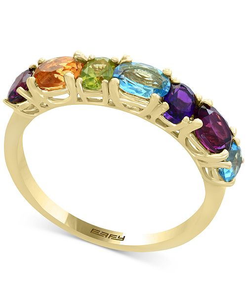 EFFY Collection Mosaic by EFFY® Multi-Gemstone Statement Ring (1-9/10 ct. t.w.) in 14k Gold