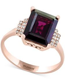 Bordeaux by EFFY® Rhodolite Garnet (3-3/8 ct. t.w.) & Diamond Accent Ring in 14k Rose Gold