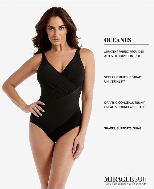 b7902871cb9 Miraclesuit DD Cup Must Haves Oceanus Draped Allover-Slimming One-Piece  Swimsuit ...