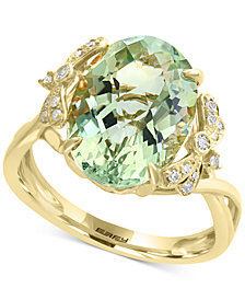 EFFY® Green Amethyst (5-9/10 ct. t.w.) & Diamond (1/10 ct. t.w.) Ring in 14k Gold