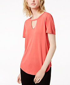 Bar III Choker T-Shirt, Created for Macy's