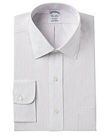 Brooks Brothers Men's Milano Extra Slim-Fit Non-Iron Broadcloth Stripe Dress Shirt
