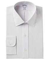 fbfa55a4d3 Brooks Brothers Men's Milano Extra Slim-Fit Non-Iron Broadcloth Stripe  Dress Shirt