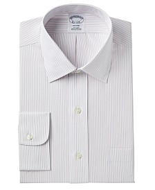 Brooks Brothers Men's Milano Extra Slim-Fit Non-Iron Broadcloth Stripe Dress Shirt