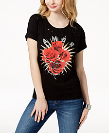 GUESS Roses Graphic-Print T-Shirt