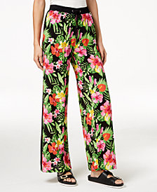 The Edit By Seventeen Juniors' Printed Soft Track Pants, Created for Macy's