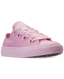 Converse Little Girls' Chuck Taylor All Star Big Eyelets Ox Casual Sneakers from Finish Line
