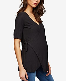 A Pea In The Pod Maternity Wrap Top
