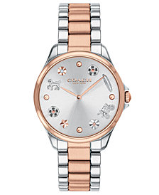 COACH Women's Modern Sport Two-Tone Stainless Steel Bracelet Watch 31mm