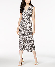 Anne Klein Field Trip Printed Fit & Flare Dress