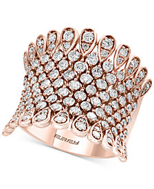 Pavé Rose by EFFY® Diamond Statement Ring (1-3/4 ct. t.w.) in 14k Rose Gold
