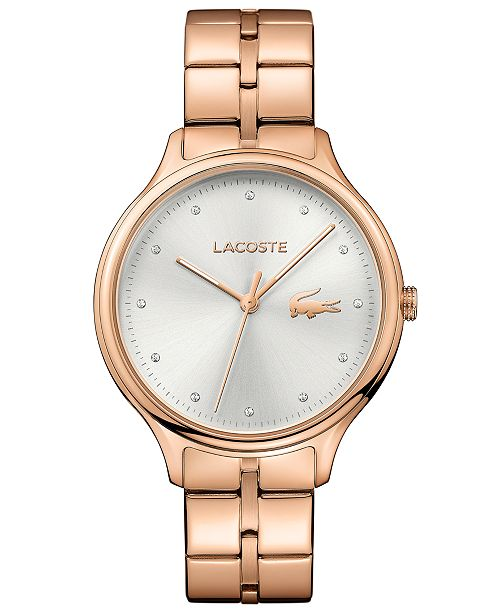 Lacoste Women's Constance Rose Gold-Tone Stainless Steel Bracelet Watch 38mm
