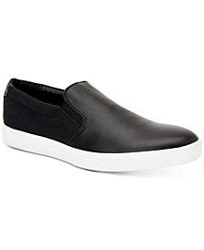 Calvin Klein Men's Ivo Leather Slip-On Sneakers