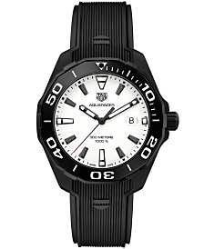 TAG Heuer Men's Swiss Aquaracer Black Rubber Strap Watch 43mm