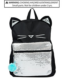 FAB Little & Big Girls Sequined Cat Backpack