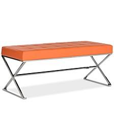 Maran Faux Leather Bench
