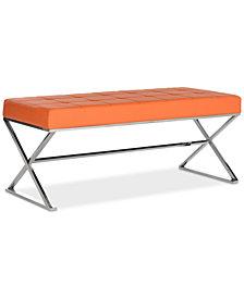 Maran Faux Leather Bench, Quick Ship