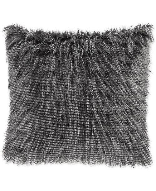 Faux Fur Decorative Pillow.Edina 20 Square Faux Fur Decorative Pillow