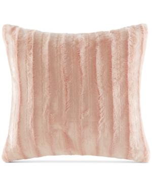 "Image of Madison Park Duke Ribbed 20"" Square Faux-Fur Decorative Pillow"
