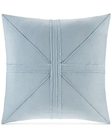 """Avella Oversized 24"""" Square Pieced Frayed Decorative Pillow"""