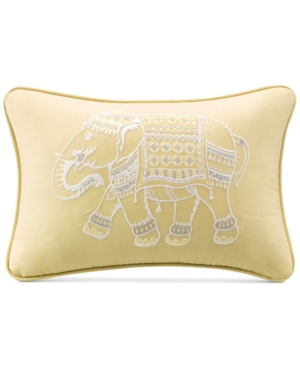 """Ink+Ivy Zahira 12"""" x 18"""" Embroidered Oblong Decorative Pillow"""