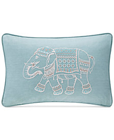 "INK+IVY Zahira 12"" x 18"" Embroidered Oblong Decorative Pillow"