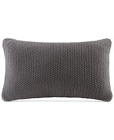 "Bree Chunky-Knit 12"" x 20"" Oblong Pillow Cover"