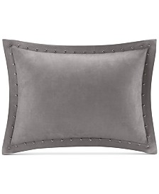 "Madison Park Alban Faux-Suede 14"" x 20"" Studded Oblong Decorative Pillow"