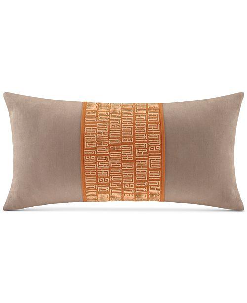 "Natori Natori Nara 10"" x 20"" Embroidered Decorative Pillow"