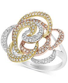 EFFY® Diamond Flower Swirl Ring (5/8 ct. t.w.) in 14k Gold, White Gold & Rose Gold