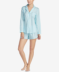 Lauren Ralph Lauren Seaside Cotton Piped-Trim Pajama Set