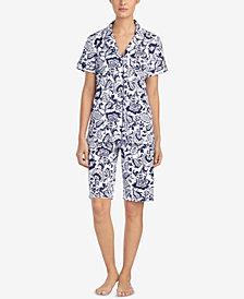 Lauren Ralph Lauren Classic Knits Bermuda Cotton Pajama Set