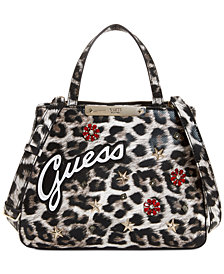 GUESS Britta Leopard Society Satchel