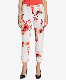 Calvin Klein Floral-Print Ankle Pants