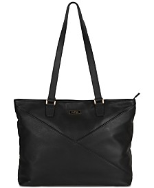 "Kenneth Cole Reaction McGote 15"" Leather Computer Business Tote"