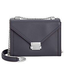 MICHAEL Michael Kors Whitney Polished Leather Shoulder Bag