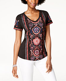 Style & Co Printed High-Low Top, Created for Macy's