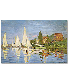 "Claude Monet 'Regatta at Argenteuil' 30"" x 47"" Canvas Art Print"