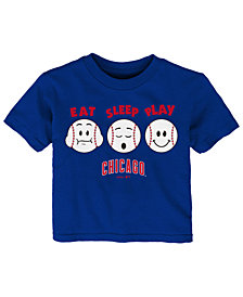 Outerstuff Chicago Cubs Eat, Sleep, Play T-Shirt, Toddler Boys (2T-4T)