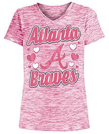 5th & Ocean Atlanta Braves Spacedye T-Shirt, Girls (4-16)