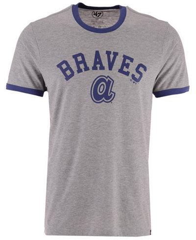 '47 Brand Men's Atlanta Braves Capital Ringer T-Shirt