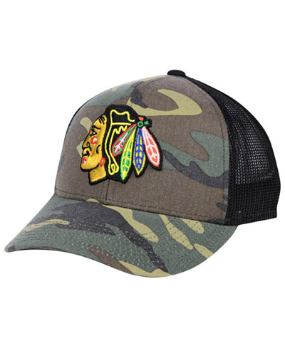 adidas Chicago Blackhawks Camo Trucker Cap