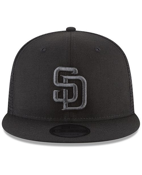 uk availability eb37b 1dd1e ... sweden new era. san diego padres blackout mesh 9fifty snapback cap. be  the first