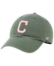 '47 Brand Cleveland Indians Moss Pink CLEAN UP Cap